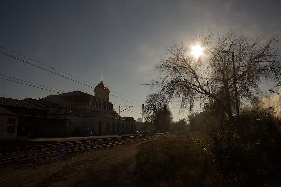 Otwock Railway Station early morning