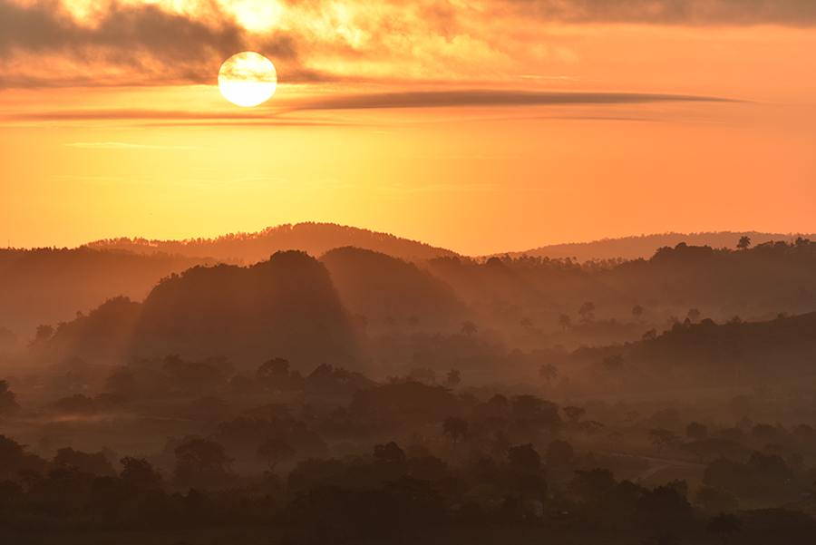 Sunrise in Viñales Valley