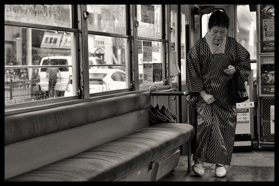 Passenger on Streetcar (Nagasaki)