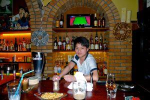 One Boy behind One Bar