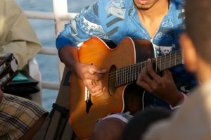 Playing Music on the Ferry