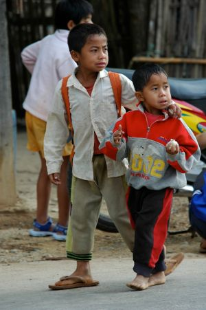 On our way to School (Laos, 2007)