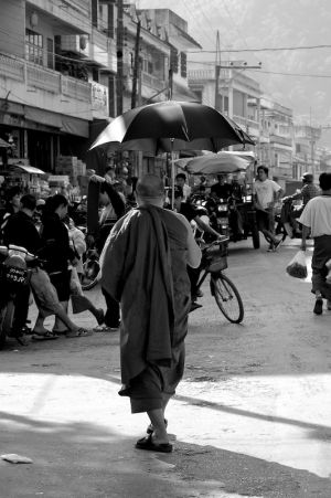 Monk with Umbrella (Birma, 2007)