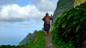 Walking with a Stick (Cape Verde, 2012)